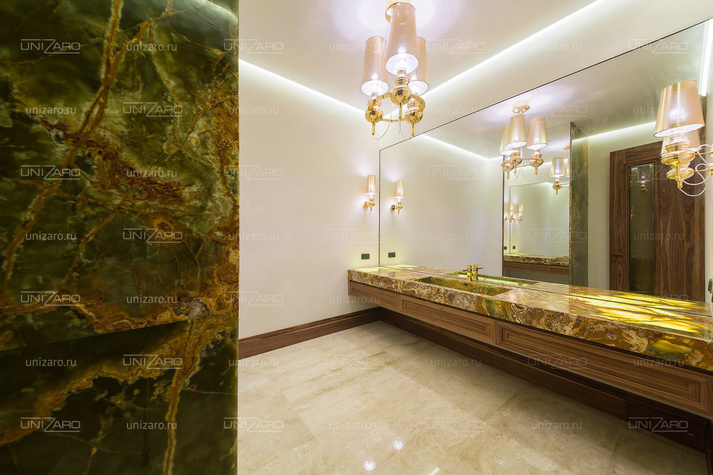 Столешница в ванной из оникса соединительная планка столешница минск