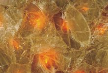 Orange Fiber Optic Quartz
