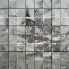 Semiprecious stone mosaic Quartz White and Black