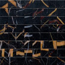Marble mosaic Black and Gold