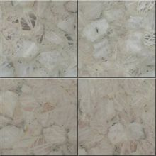 Semiprecious stone tile Quartz White and Black